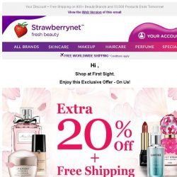 [StrawberryNet] , It's Your Last Chance to Get Extra 20% Off Beauty!
