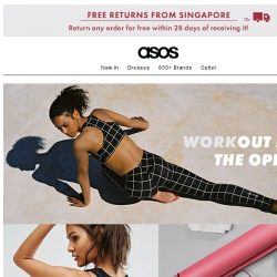 [ASOS] Geared up for yoga/running/swimming?