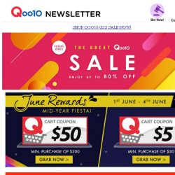 [Qoo10] The Great Qoo10 Sale! Save Up to 70%! Get it Now!