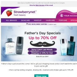 [StrawberryNet] Act fast! Get Last-Minute Father's Day Gifts at Deep Discounts