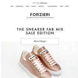 [Forzieri] The Sneaker Fab Mix | SALE Edition