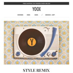 [Yoox] Style Remix: renew your look with an EXTRA 20%, 25% and 30% off