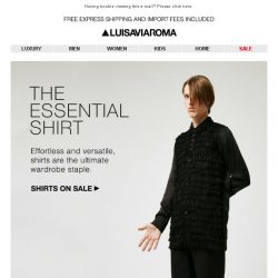 [LUISAVIAROMA] Hit Refresh: Men's Shirts on SALE!