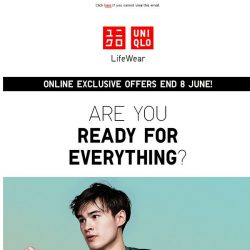 [UNIQLO Singapore] Workout in Total Comfort
