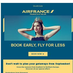 [AIRFRANCE] ✈Great deals to Europe from SGD 849!