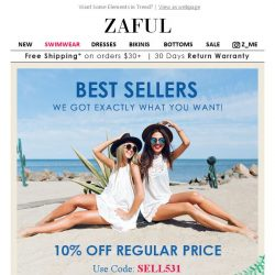 [Zaful] CAUTION: 10% Off Best Styles. Now or Never!