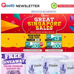 [Qoo10] Qoo10 Great Singapore Sale! Last Day for Super Deals! Grab Them Now!