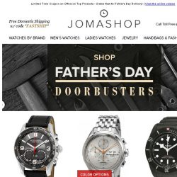 [Jomashop] FATHER'S DAY DOORBUSTERS: Omega, Tudor, Montblanc, Victorinox, Tissot & More