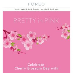 [Foreo] Fresh as a Flower & Twice as Beautiful - Save 15% on all Pink FOREOs