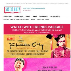[SISTIC] Forbidden City: Portrait of an Empress – Click here to find out how you can get your complimentary ticket!