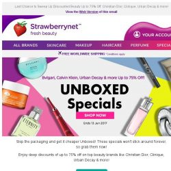 [StrawberryNet] It's Cheaper to Buy Unboxed! Sale Ends 13 June