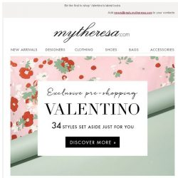 [mytheresa] Exclusive pre-shopping: Valentino