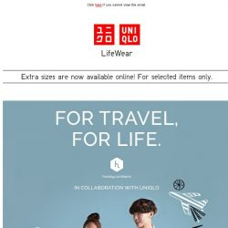 [UNIQLO Singapore] For Travel, For Life.