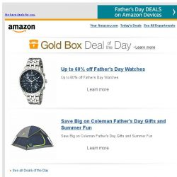 [Amazon] Up to 60% off Father's Day Watches