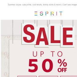 [Esprit] Sale up to 50% off! Just in time for Father's Day!