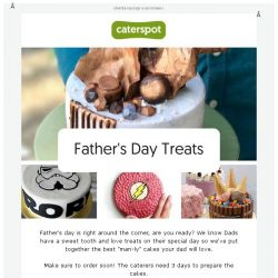 [CaterSpot] Father's Day Treats your Dad will love