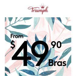 [Triumph] 💖 Snatch these $49 Bras now!
