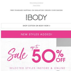 [Cotton On] SALE Up To 50% Off | New Styles Added!