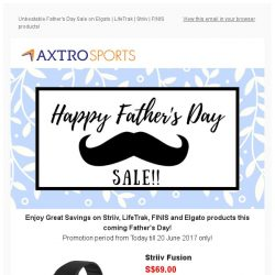 [AXTRO Sports] Unbeatable Father's Day Sale on Elgato | LifeTrak | Striiv | FINIS products!