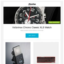 [Massdrop] Victorinox Chrono Classic XLS Watch, CAD E100S Condenser Microphone Supercardioid, Azio Retro Mechanical Keyboard - Massdrop Exclusive and more...