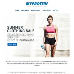 [MyProtein] 💣 ALERT 💣 The Clothing Sale is here...