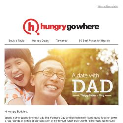 [HungryGoWhere] A Date With Dad @ :Pluck, Bedrock Bar & Grill, La Brasserie & more, this Father's Day