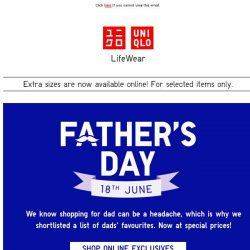[UNIQLO Singapore] For the man who has everything...