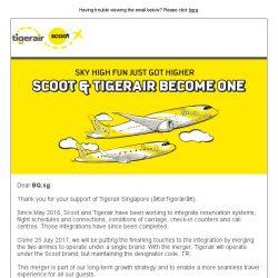 [Tigerair] Scoot and Tigerair Merger