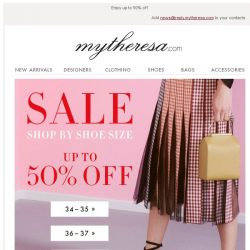 [mytheresa] Sale: shop by shoe size + Free shipping