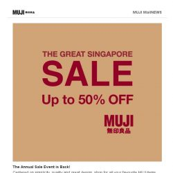 [Muji] Great Shopping Spree Begins at MUJI
