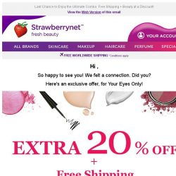 [StrawberryNet] , Your Extra 20% Off is Here Today, Gone Tomorrow!