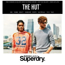 [The Hut] Flash SALE | Up to 30% off Superdry + Extra 10% off...