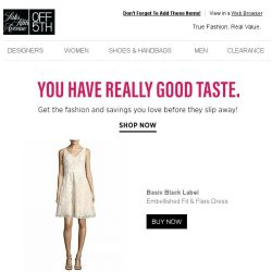 [Saks OFF 5th] This Basix Black Label item caught your eye...get it before it's gone!