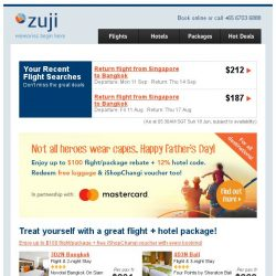 [Zuji] To Dad with love. 4D3N Tokyo, Bali, Sydney packages fr $231.