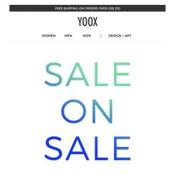 [Yoox] Last day: EXTRA 20% off a sale selection