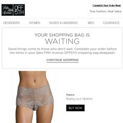 [Saks OFF 5th] Don't Forget! Your Hanro item is waiting at checkout!