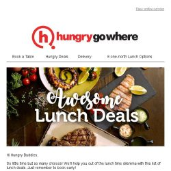 [HungryGoWhere] Awesome Lunch Deals: 1-for-1 4-Course Lunch, Free Drink Upgrade & more!