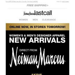 [Last Call] DESIGNER NEW ARRIVALS from Neiman Marcus   online now, in stores tomorrow