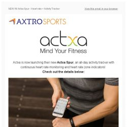 [AXTRO Sports] NEW IN! Actxa Spur -Heart Rate + Activity Tracker