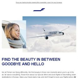 [Finnair] Discover the beauty of flying with special offers to Europe