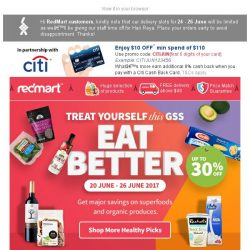 [Redmart] GSS Eat Better - Save up to 30% on superfoods & organics