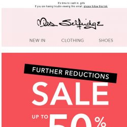 [Miss Selfridge] SALE: Amazing further reductions now live!