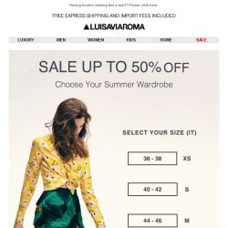 [LUISAVIAROMA] Sale Made Easy: Shop your size!