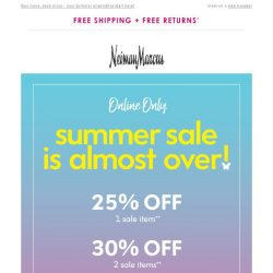 [Neiman Marcus] Last day! Up to 35% off sale