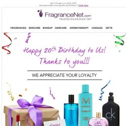 [FragranceNet] Don't forget your gift!