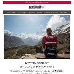 [probikekit] Mystery Discount | Up to an EXTRA 18% off Site...