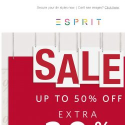 [Esprit] Save big! An extra 20% off on 2 or more items storewide!