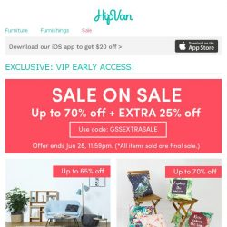 [HipVan] VIP Exclusive Sale - Because you matter to us!✨