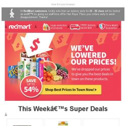 [Redmart] More Items Added, More Savings - Up to 54% Off