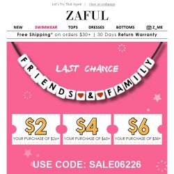 [Zaful] You're invited to get First Access! Up to $12 value.
